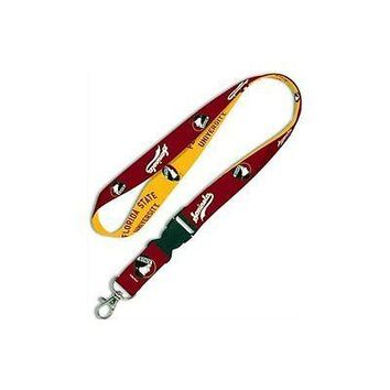 NCAA Florida State Seminoles Lanyard ID Badge Holder with Breakaway Clip Key ...