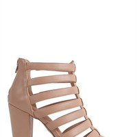 Strappy Chunky High Heel