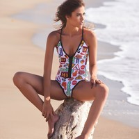 Designer One Piece Bathing Suit
