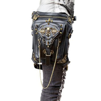 *Thigh Holster Protected Purse Shoulder Purse leather steampunk