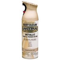 Rust-Oleum Universal 11 oz. All Surface Metallic Champagne Mist Spray Paint and Primer in One-261415 - The Home Depot