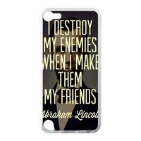 Abraham Lincoln Quotes Apple iPod Touch 5th Case Cover Protecter - Retail Packaging - Laser Rubber