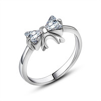 High quality exquisite and delicate Bow natural stone Ring fine jewelry SA452