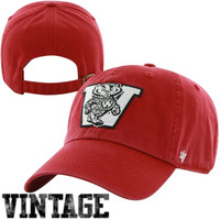 47 Brand Wisconsin Badgers College Vault Cleanup Adjustable Hat -Cardinal