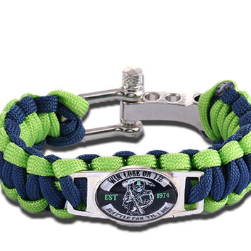 Seattle Seahawks Win Lose or Tie Paracord Bracelet Sons of Anarchy