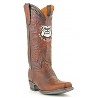 Gameday Boots Mens Leather University Of Georgia Board Room Cowboy Boots