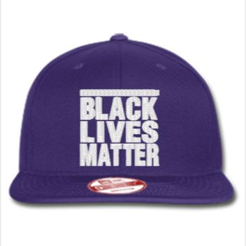 black lives matter embroidery hat  - New Era Flat Bill Snapback Cap