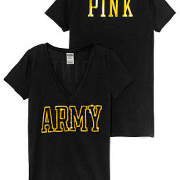 Army Bling V-neck Tee - PINK - Victoria's Secret
