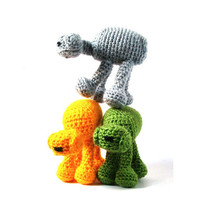 Star Wars Toy -  AT AT - Crochet Amigurumi  (Yellow or Green Walker)