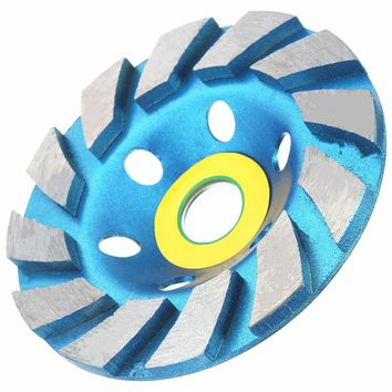 100mm (4 inch) 4'' Diamond Blue Grinding Concrete Cup Wheel Disc Bowl Shape Concrete Granite Masonry Stone Ceramics Tools
