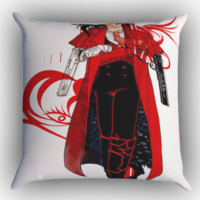 Anime Hellsing Alucard Z1001 Zippered Pillows  Covers 16x16, 18x18, 20x20 Inches