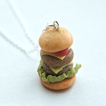 double cheeseburger necklace