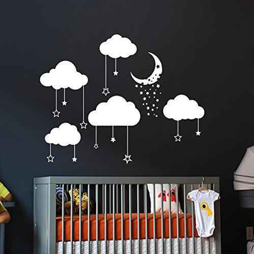 Cloud Wall Decals Baby Room Nursery from Amazon | Wall Decals