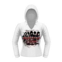 Black Veil Brides Women's  Destro Girls Jr  Long Sleeve White