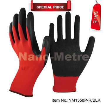 2018 latex working gloves,protective gloves,polyester working gloves Factory direct price
