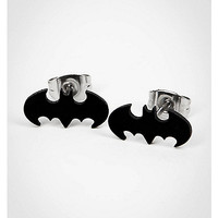 Batman Black Cut Logo Stud Earrings - Spencer's