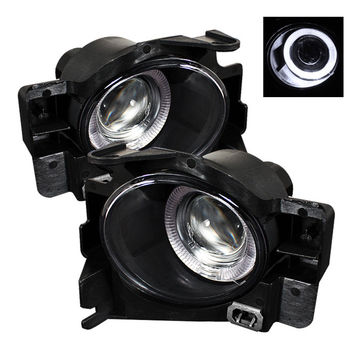 Nissan Altima 08-12 2Dr (w/Switch  No Cover) Halo Projector Fog Lights- Clear