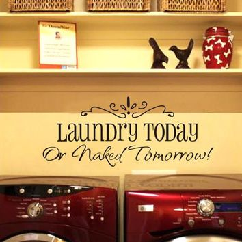 2014 New laundry English Wall Sticker Removable Home Decor Vinyl Art Decals Room Decoration