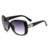 Metal Designed Leopard Head Shape Sunglasses