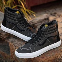 Trendsetter Vans Classic Zipper High-Top Flats Sneakers Sport Shoes