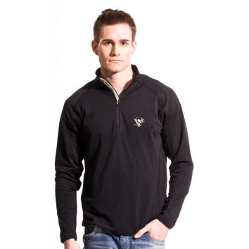 Levelwear Pittsburgh Penguins Metro Quarter Zip Pullover Jacket - Black