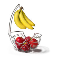 Ellipse Fruit Tree and Bowl in Chrome by Spectrum | Organize.com