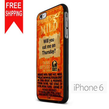 Taco Bell Sauce Fire Mild iPhone 6 Case