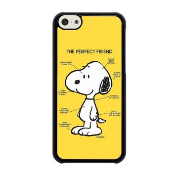 snoopy dog perfect friend iphone 5c case cover  number 1