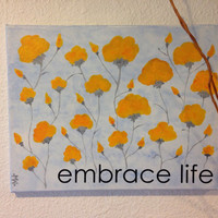 Embrace Life Mixed Media painting by SunChickie Arts