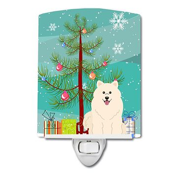Merry Christmas Tree Samoyed Ceramic Night Light BB4155CNL