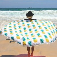 150cm Beach Mat Swimsuit Boho Mandala Tribal Bohemian Cover-ups Sexy Shawl Lie On Big Size Mat