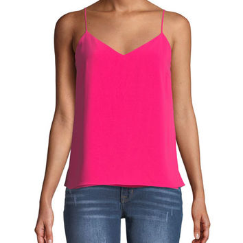 Amanda Uprichard Bourbon Layered V-Neck Tank