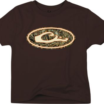 Drake - Young Guns SS Oval Camo Logo Tee Realtree MAX5 - Chocolate