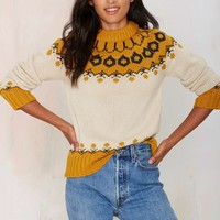 Joa Malia Mock Neck Sweater