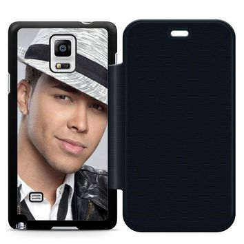 Prince Royce Hat Leather Wallet Flip Case Samsung Galaxy Note 4