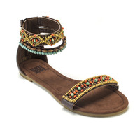 Muk Luks Women's Wren Beaded Gladiator Sandal