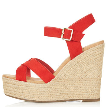 WHISPERED Cross Over Wedges - Wedges - Heels - Shoes - Topshop