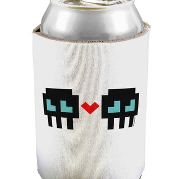 8-Bit Skull Love - Boy and Boy Can / Bottle Insulator Coolers
