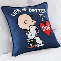 Peanuts™ Life Is Better With A Dog Pillow Cover
