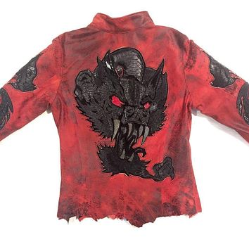 Dark 8 'Monster' Red Python & Stingray Jacket