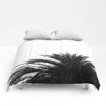 Palm tree Comforters by ARTbyJWP