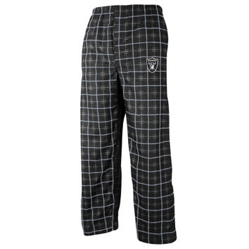 Oakland Raiders Youth Consolidated Plaid Pants - Black - http://www.shareasale.com/m-pr.cfm?merchantID=7124&userID=1042934&productID=520956815 / Oakland Raiders