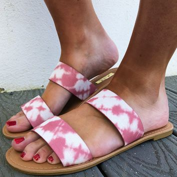 To Dye For Sandals: Blush/Ivory