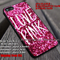 Love Pink Glitter iPhone 6s 6 6s+ 6plus Cases Samsung Galaxy s5 s6 Edge+ NOTE 5 4 3 #other ii