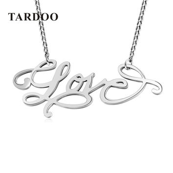 "TARDOO Brand Real 925 Sterling Silver Romantic Necklace for Women Popular ""LOVE"" Letter Pendant Necklace True Fine Jewelry"