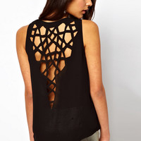 Hollow Out Back Tank Top