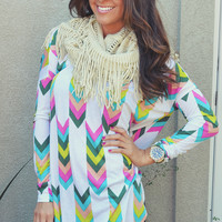 Color Craze Chevron Tunic: Multi | Hope's