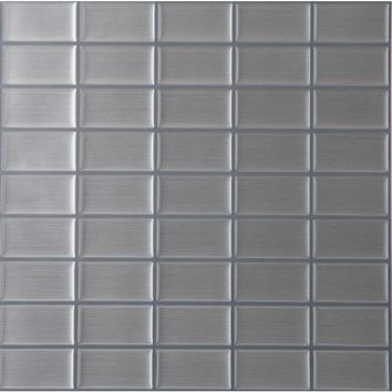 Achim 9.125 in. x 9.125 in. Magic Gel Mosaic Decorative Wall Tile in Stainless Steel-MGTMSCSS24 - The Home Depot