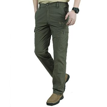 Men's Military Style Cargo Pants 4XL