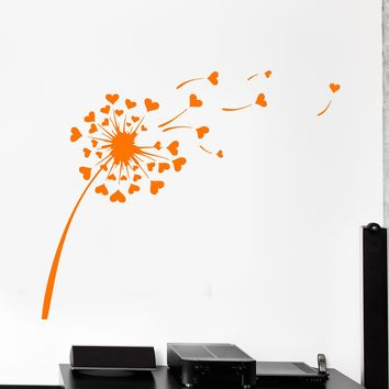 Wall Vinyl Decal Dandelion Flower Floral Cool Modern Decor Unique Gift z3899
